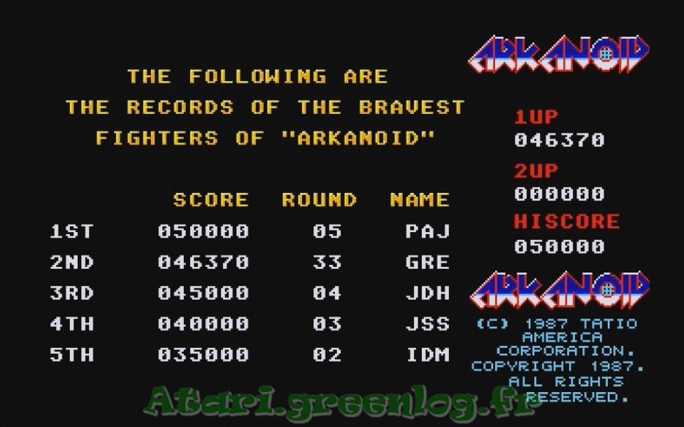 Arkanoid : Impression d'écran 39