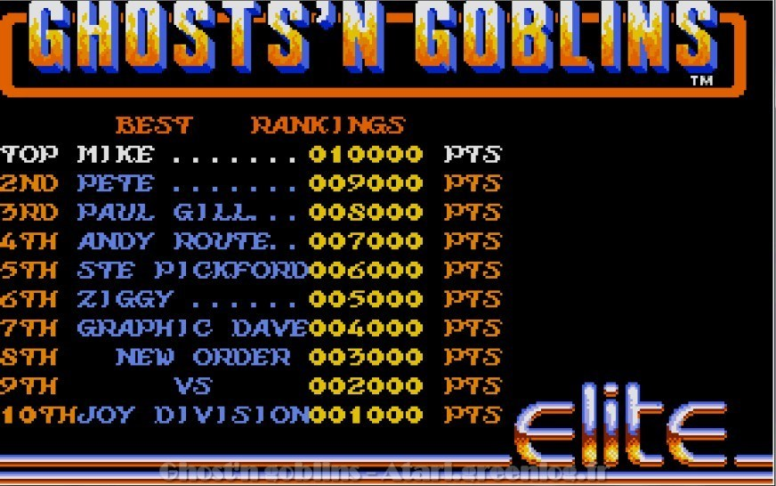 Ghosts'n Goblins : Impression d'écran 2