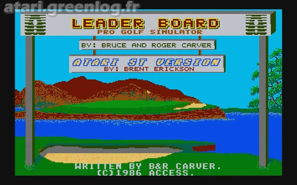 Leader board pro golf simulator