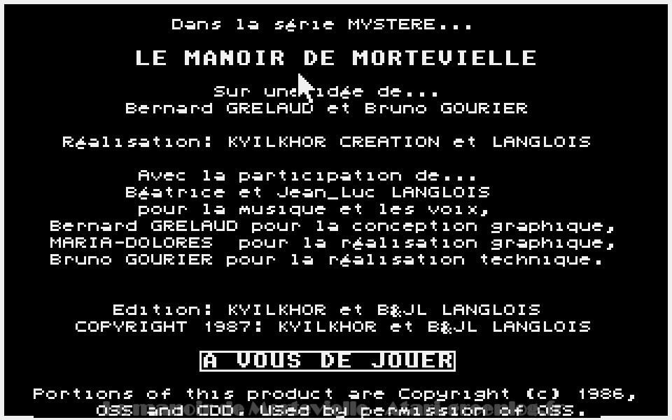 Le manoir de Mortevielle : Introduction