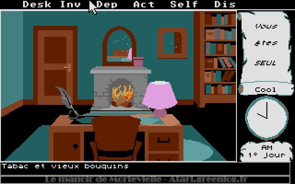 Le manoir de Mortevielle : Le bureau