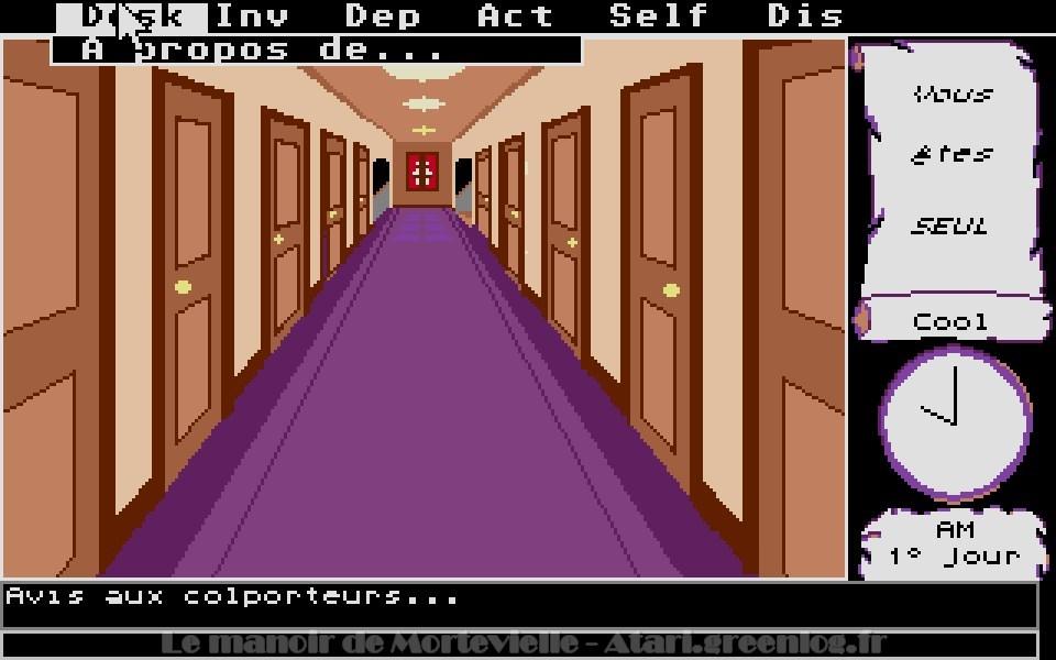 Le manoir de Mortevielle : Le couloir