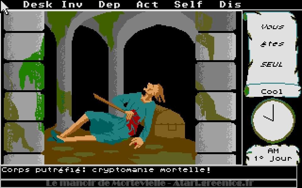 Le manoir de Mortevielle : La crypte