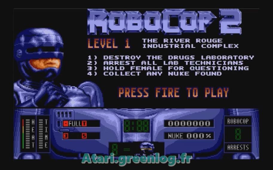 Robocop 2 : Impression d'écran 4