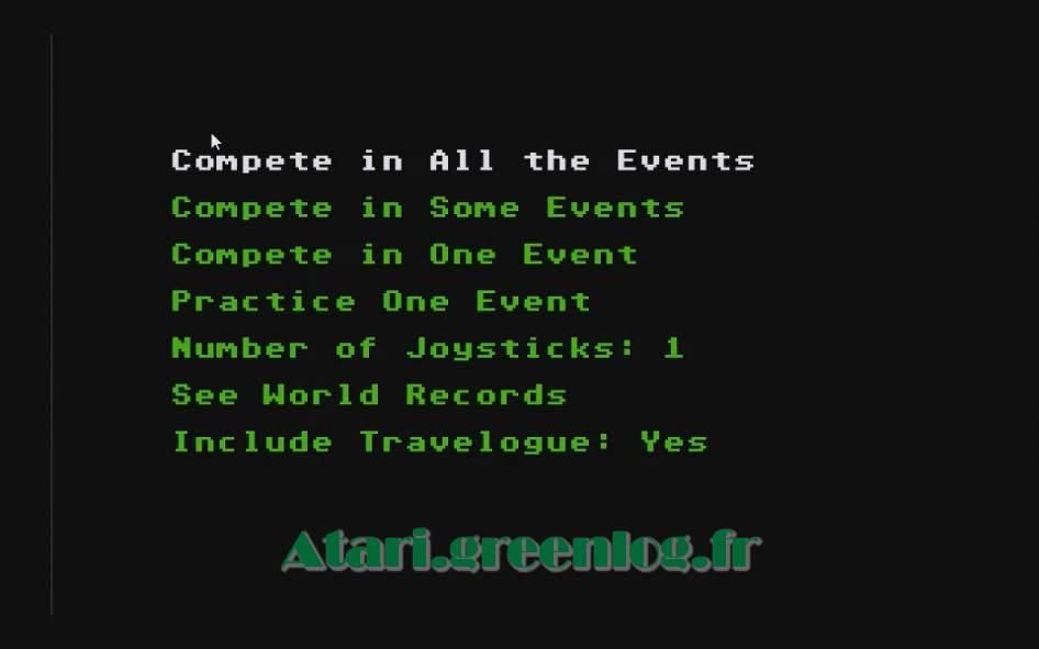 World Games : Impression d'écran 2