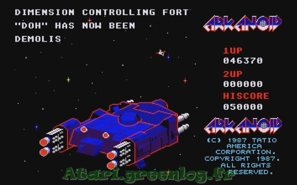 Arkanoid : Impression d'écran 36