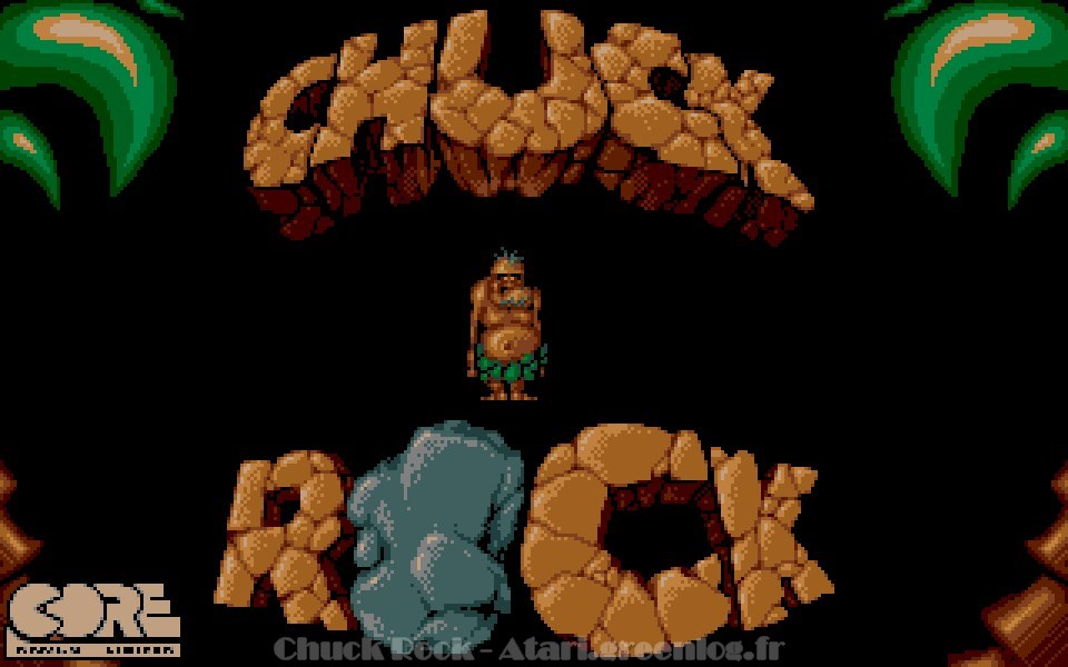 Ecran de démarrage de Chuck Rock