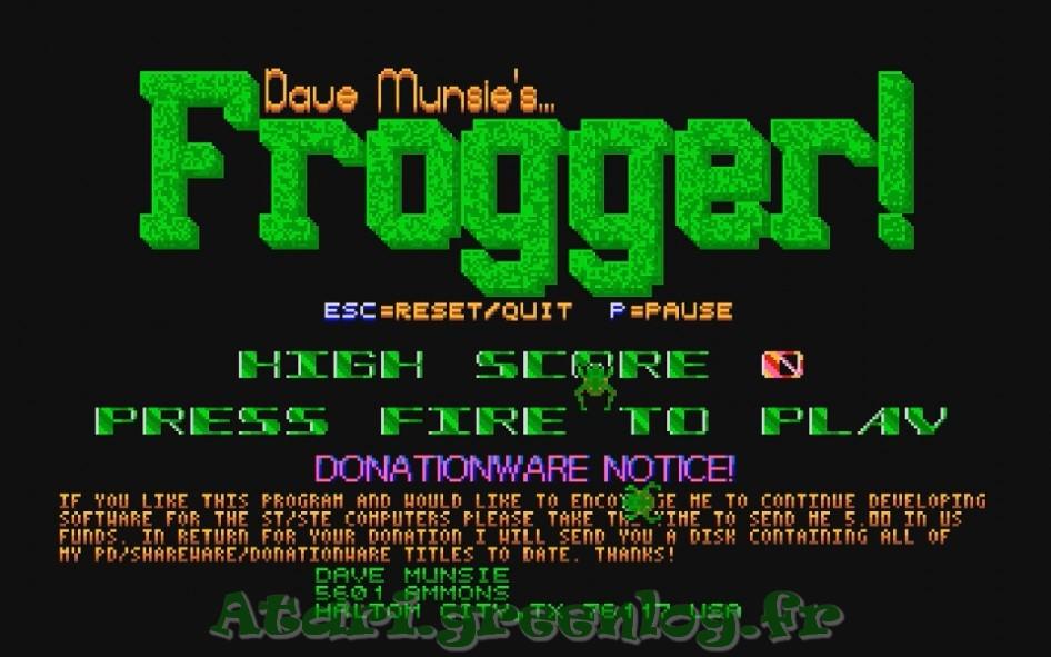 Frogger : Impression d'écran 2