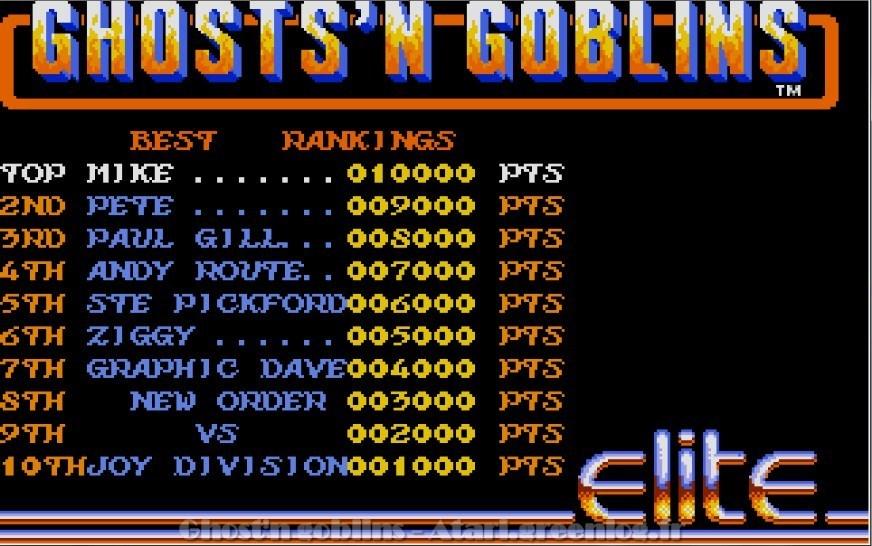 Ghosts'n Goblins : Impression d'écran 2