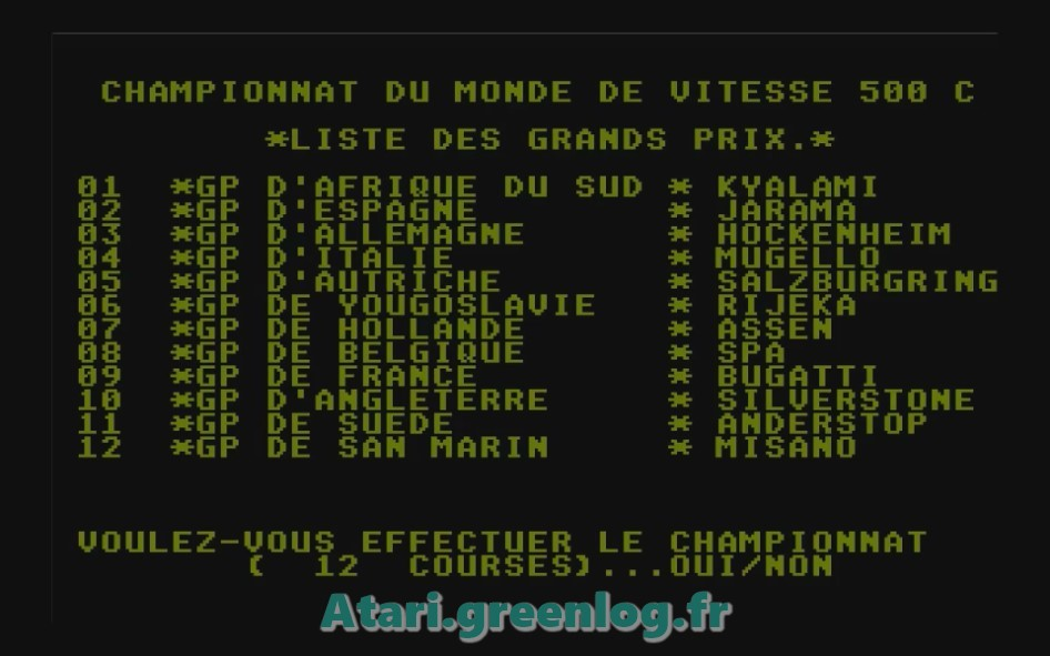 Grand Prix 500cc : Impression d'écran 3