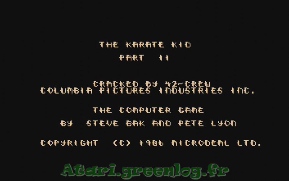 Karate Kid Part 2 : Impression d'écran 2