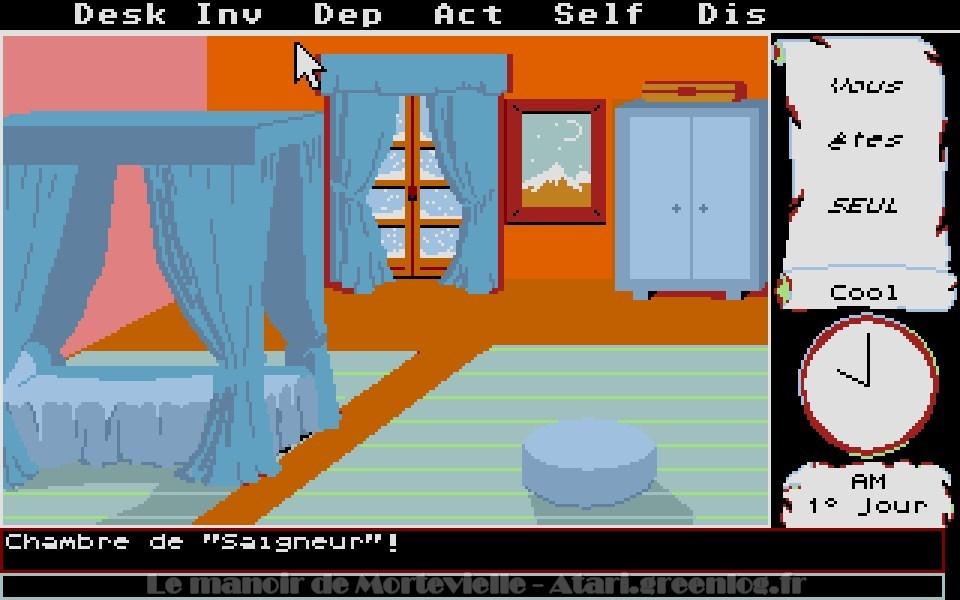 Le manoir de Mortevielle : 4ème porte à Droite - Chambre de Bob