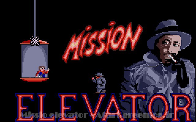 Ecran de démarrage de Mission Elevator